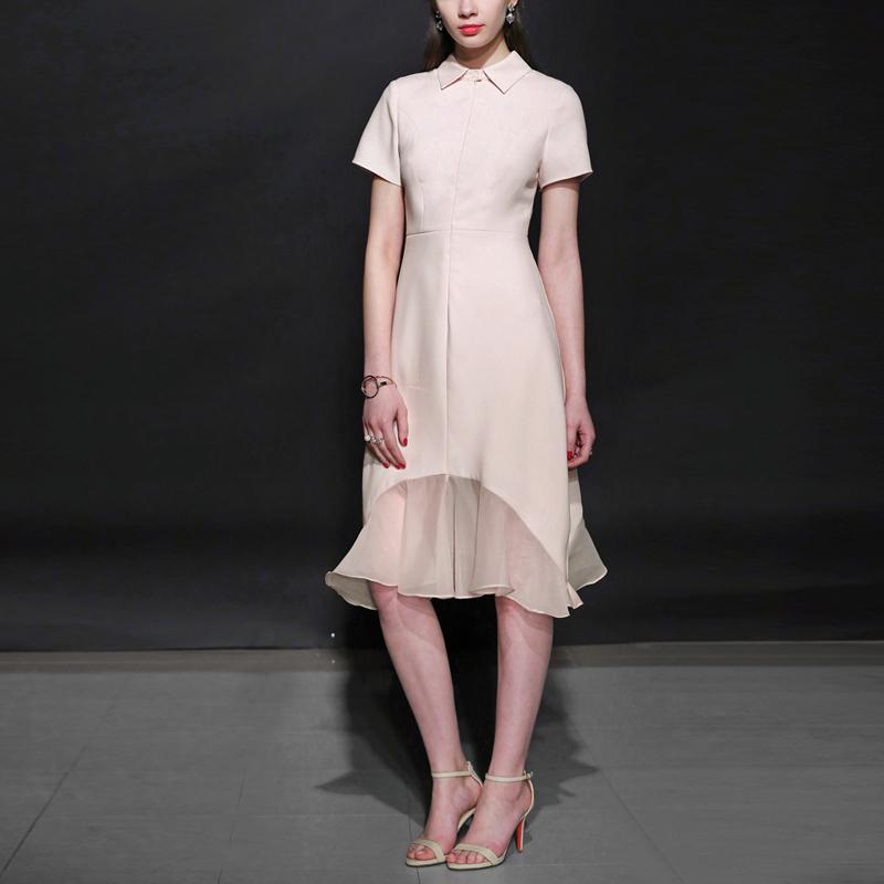 夏季气质名媛包臀长裙短袖修身中长款包臀长裙气质名媛短袖修身包臀连衣裙