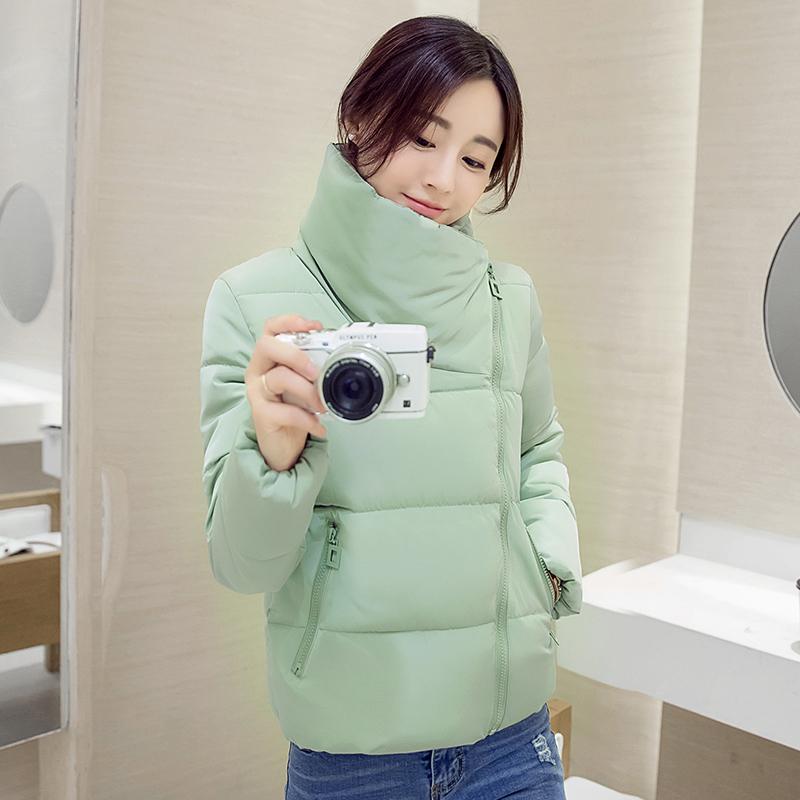 新款韩版女装时尚外套棉衣韩版女装冬装短款时尚外套