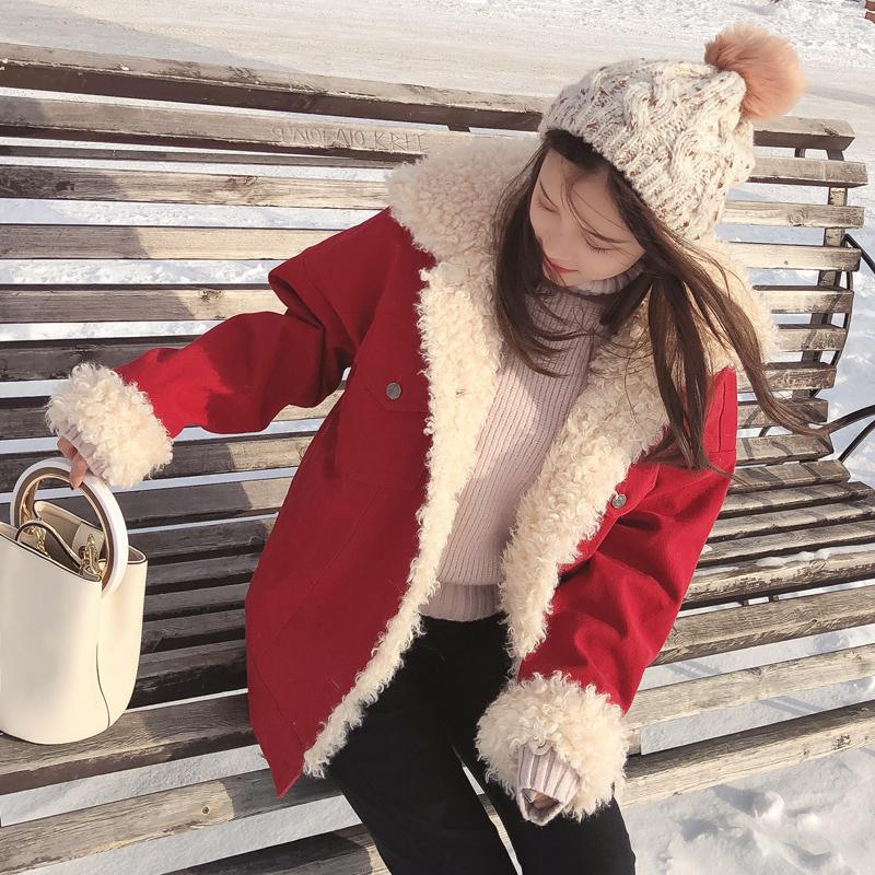冬装新款女装宽松小个子加厚棉服韩版女装新款宽松小个子加厚毛领棉衣外套秋冬装短款小个子加厚毛领棉服