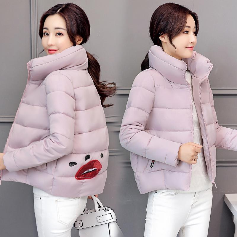 冬装韩版女装新款加大码加厚外套新款韩版女装宽松加大码加厚棉服棉袄韩版新款加厚外套