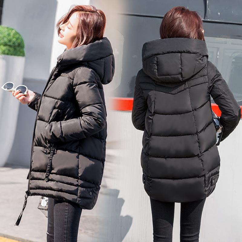 冬装新款女装加厚羽绒棉衣面包服棉服韩版女装冬装中长款面包服加厚外套韩版棉袄加厚衣中长款外套
