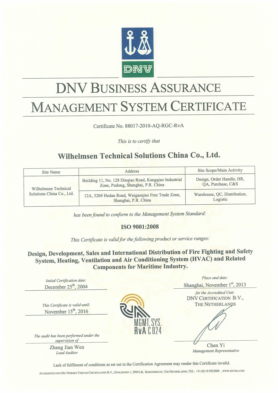 ISO certificati...