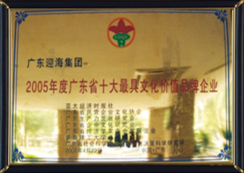 6—广东省最具文化价值品牌企业——2005年