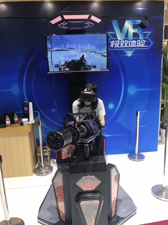 VR加特林机枪射击