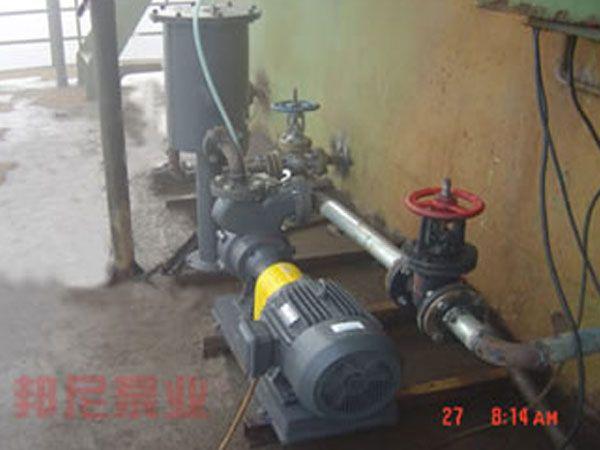 上海某污水处理厂使用本公司气液混合泵替代传统洛气系统改造现场