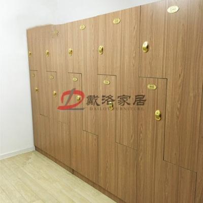 木质健身房更衣柜木质储物柜衣包收纳柜员工更衣柜