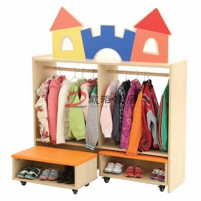 幼儿早教特色主题衣帽柜幼儿园更衣柜