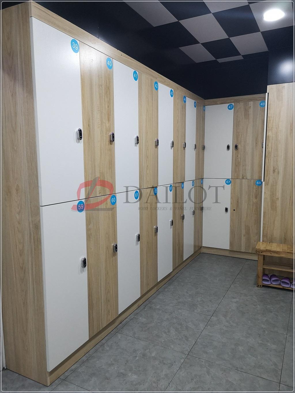 佛山南海木质更衣柜员工柜定制酒店会所美容店员工更衣室换衣柜储物柜带锁