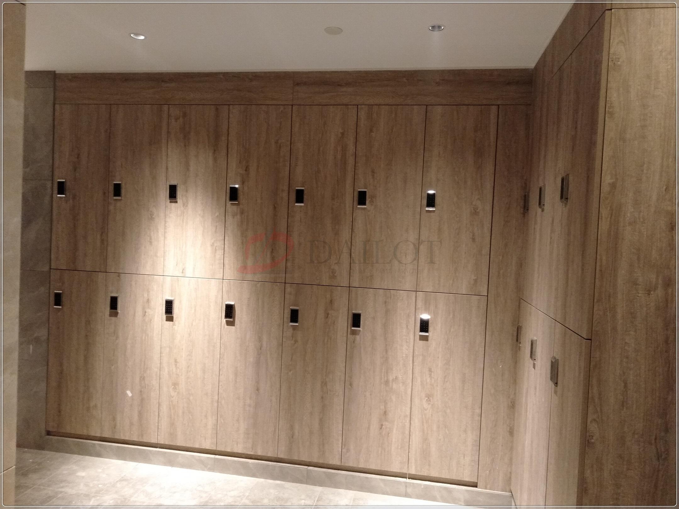 星级酒店健身房更衣柜桑拿换衣柜防水防腐B1级阻燃