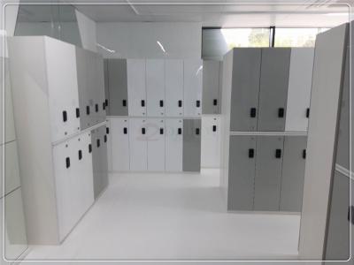 进口PET高光白色灰色电子更衣柜医院储物柜存包柜