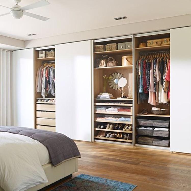 现代简约全屋定制衣柜加工厂直销板式家具白色衣柜