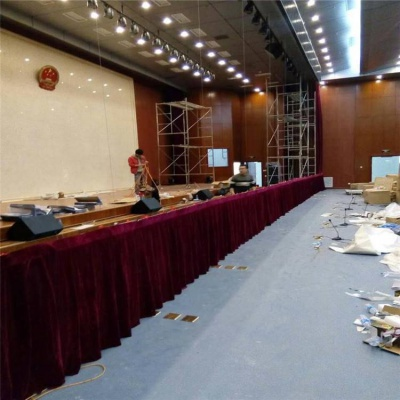 会场幕布会场舞台幕布厂家会议室开大会专用背景舞台幕布