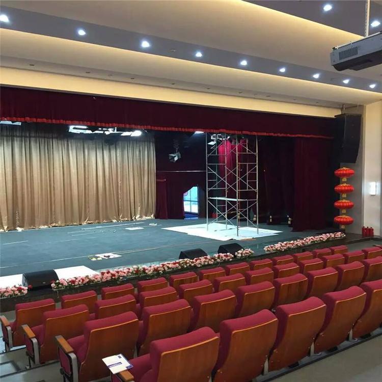 加厚真丝绒舞台幕布加工定做舞台红色幕布会议背景布电动舞台幕布