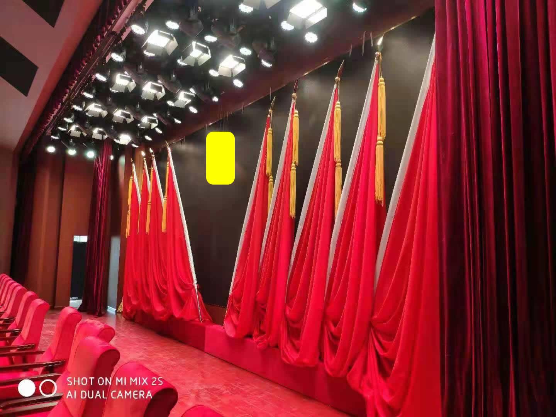 批量供应大红色精品无接缝舞台红旗