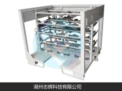 Mid-muffler material rack assembly