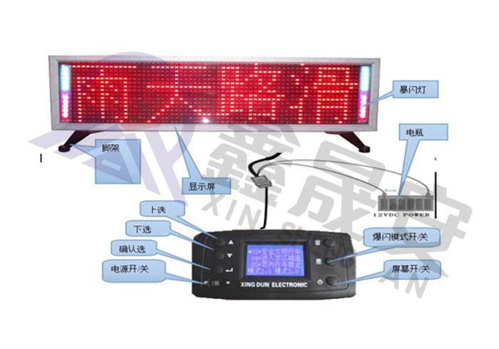 XSA-960-2-车载式道路交通信息显示屏