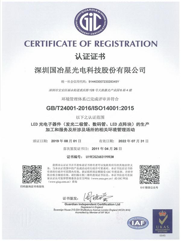 ISO-14001环境管理体系认证