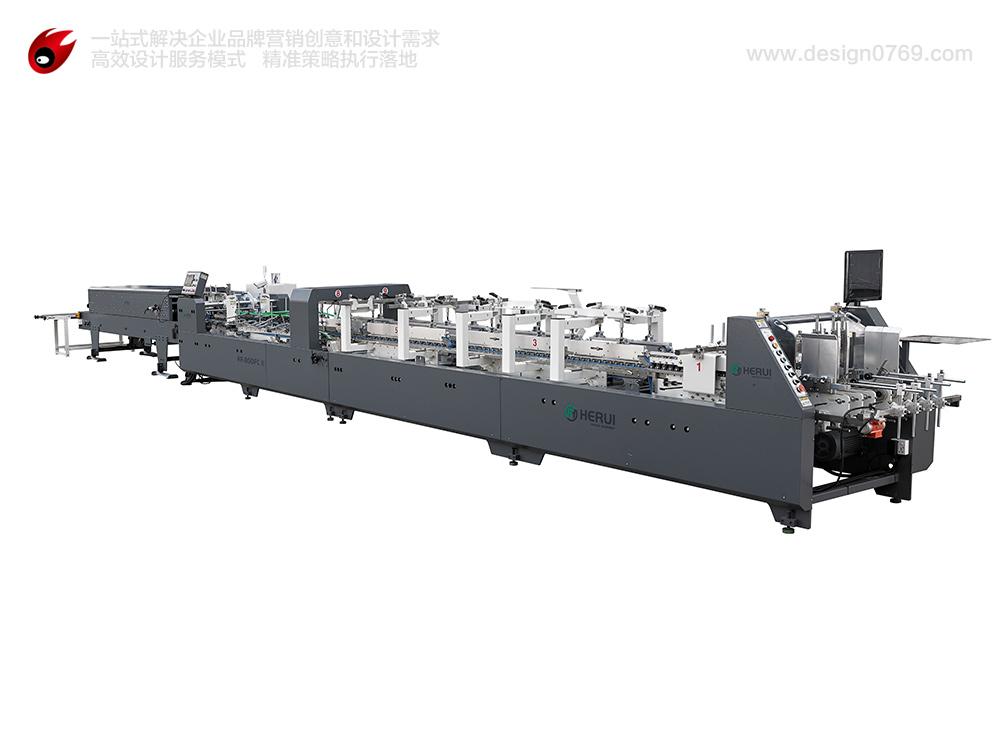 糊盒机机械设备摄影
