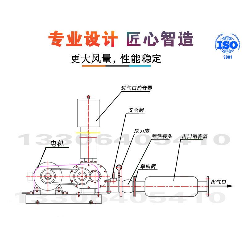 厂家介绍罗茨风机TSR190型参数性能