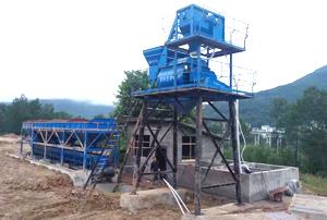 贵州都匀HZS50型混凝土搅拌站已投产