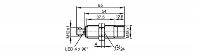 IFM电感式传感器IGK3012-BPKG/K1/SC/US-104  IGW201