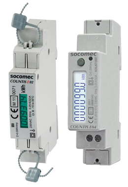 SOCOMEC COUNTIS E0x 单相有功电度表——直连32/40 A