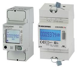 SOCOMEC COUNTIS E1x 单相有功电度表——直连63/80A