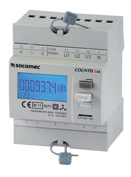SOCOMEC COUNTIS E4x三相有功电度表——通过电流互感器达6000A
