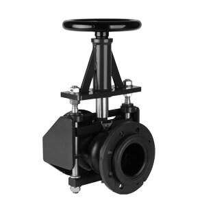 AKO 机械式夹管阀RV系列 手轮手动操作,开放式壳体