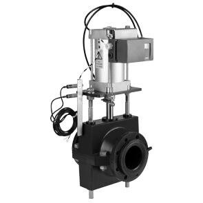 AKO 机械式夹管阀RV系列 机械操作,双作用带阀门定位器,双面关闭