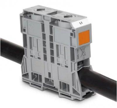 WAGO万可 POWER CAGE CLAMP: 大电流轨装式接线端子