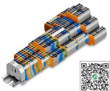 WAGO万可 紧凑型轨装接线端子
