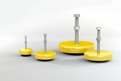可调平机器支脚橡胶-金属隔振器