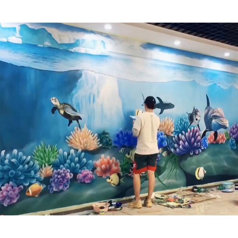广州水上乐园 海底世界主题彩绘