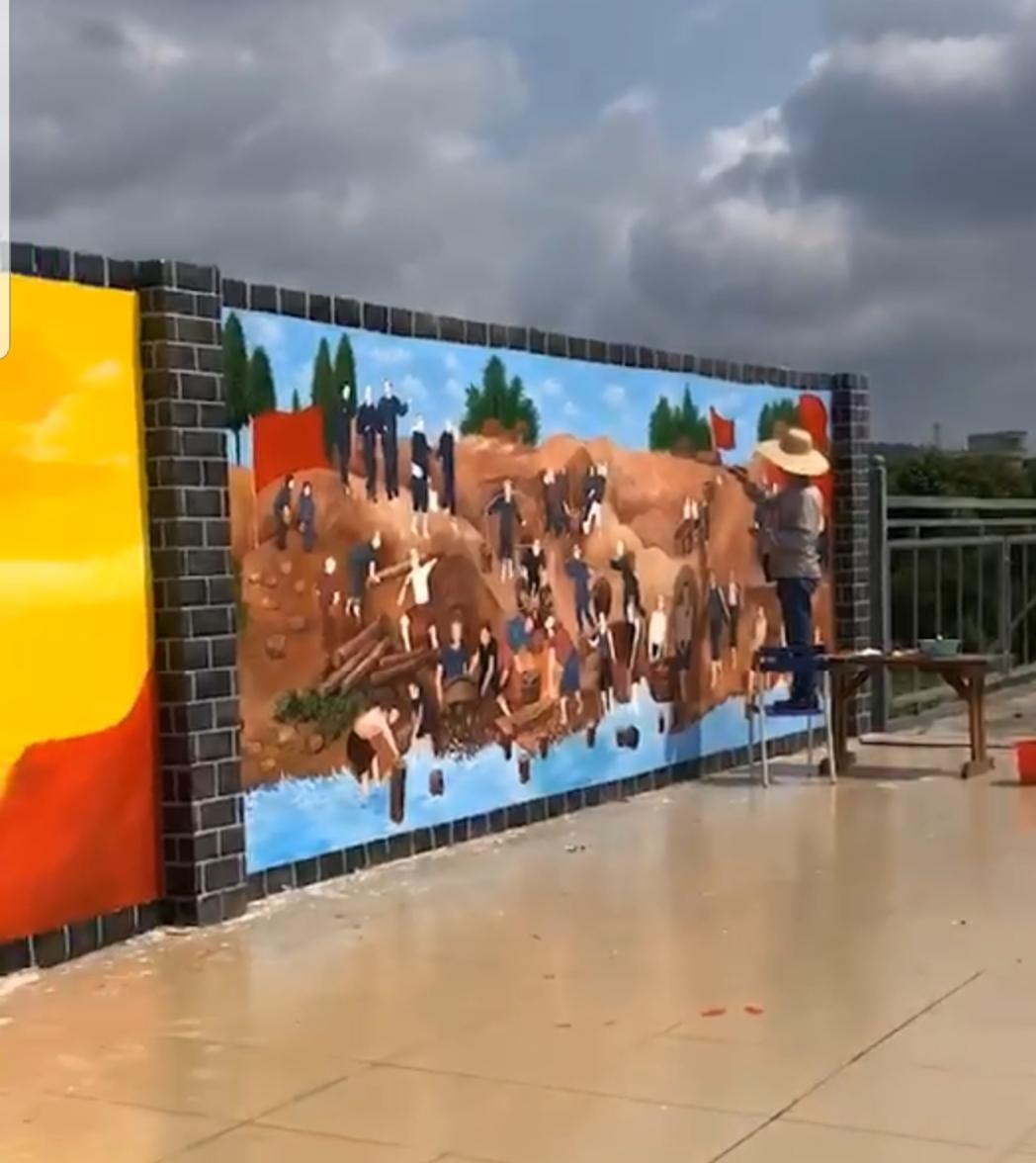 茂名电白区文化墙 社区 新农村建设文化墙