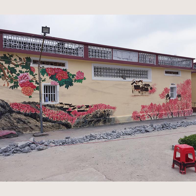 惠州可塘文化墙 新农村建设文化墙 国画