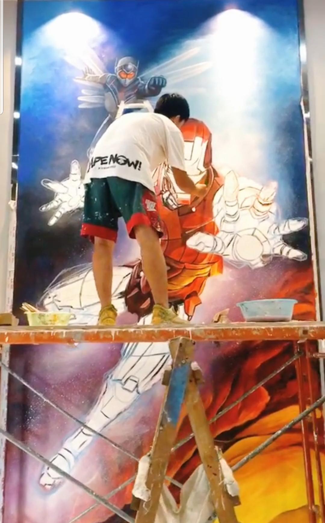 广州正佳广场墙绘 电影院墙绘 3D立体绘画