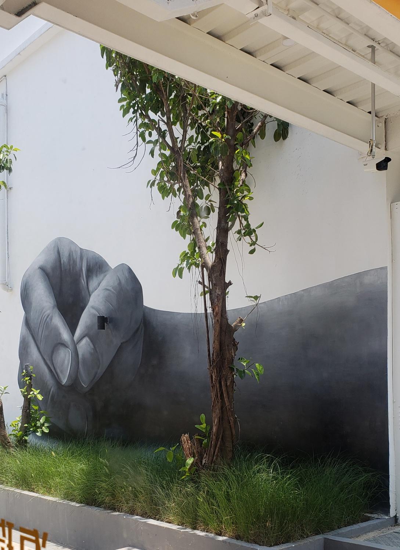 广州海珠同创汇广场墙绘 涂鸦 3D立体画