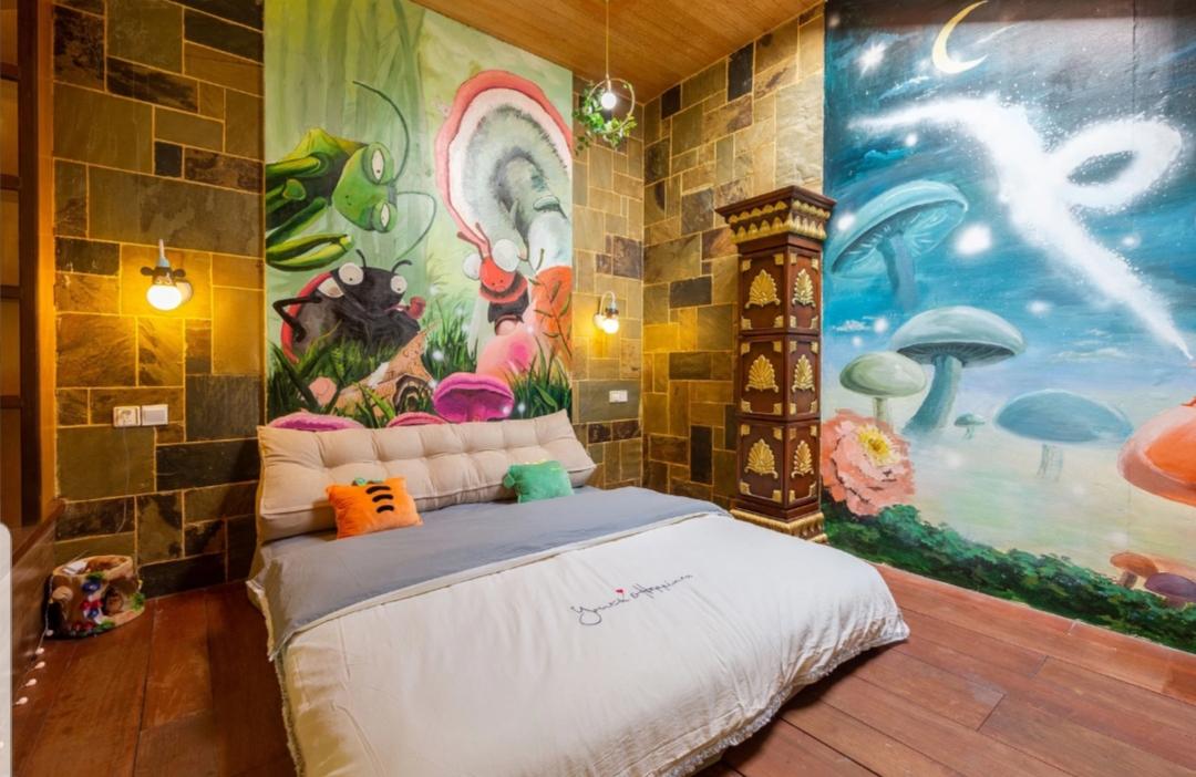 广州番禺长隆别墅墙绘 公寓墙绘 梦幻森林系列