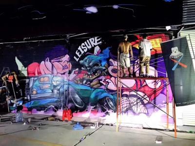 广州道野涂鸦艺术文化节 墙绘 彩绘 手绘墙画 涂鸦 3D立体画