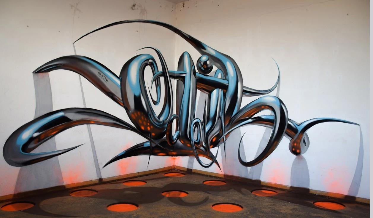 艺术创意园卡位广场墙绘 游乐场逼真墙画 涂鸦 3D立体画