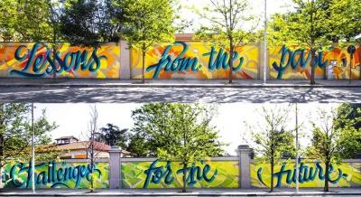 城市小区文化墙  城市建设文化墙 涂鸦 3D立体