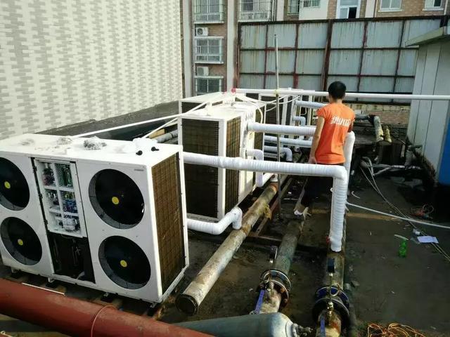 空气能热泵和其他热水设备的运行对比