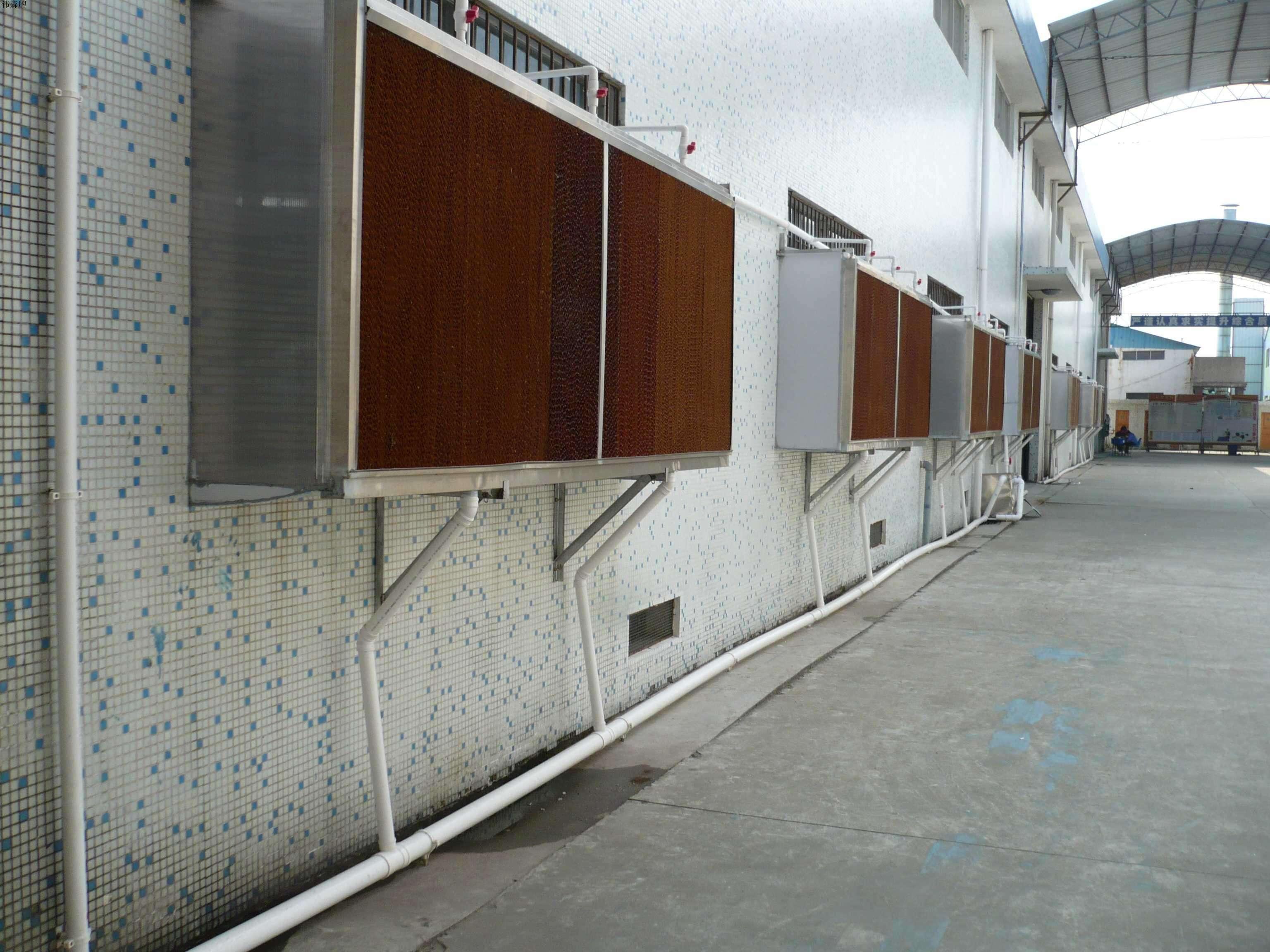 喷漆厂车间的风机水帘柜应用