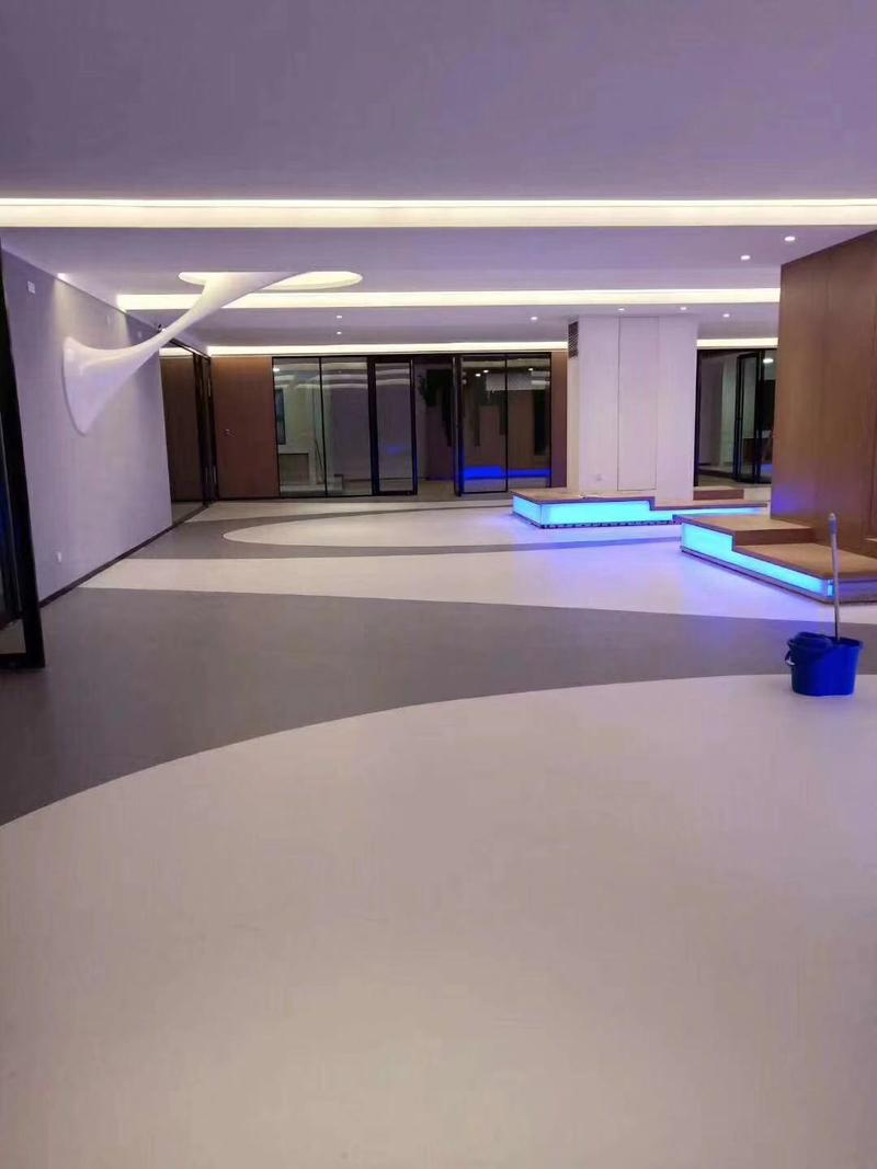 艺术展厅卷材pvc地板图案铺装效果展示