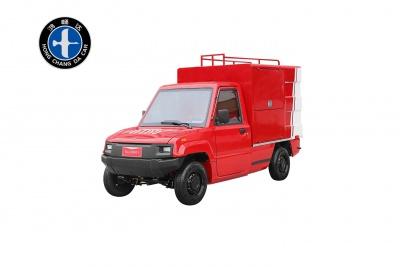 封闭式2人座微型电动泡沫喷雾消防车