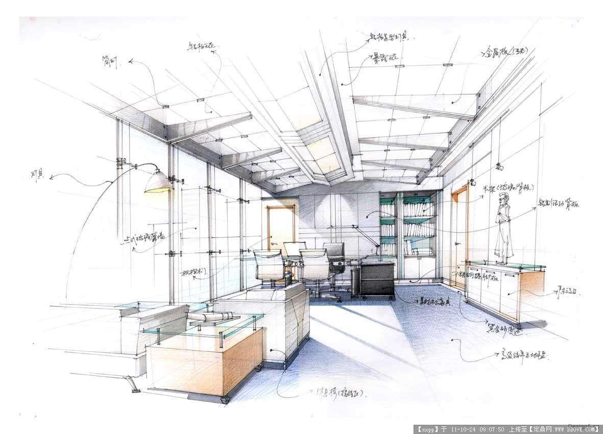 珠海室内设计高级手绘班 - 珠海市富爱得职业培训学校