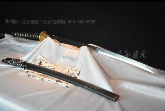 海浪铜装武士刀-T10钢烧刃