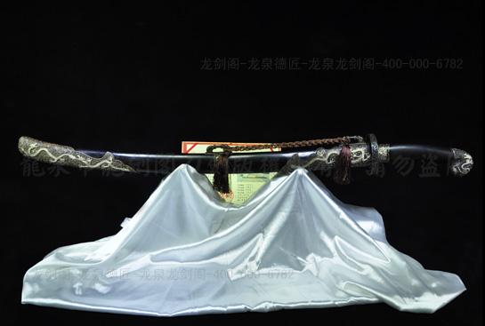 银龙清刀-百炼花纹钢
