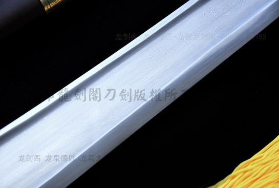 大凹槽精品单刀-百炼花纹钢